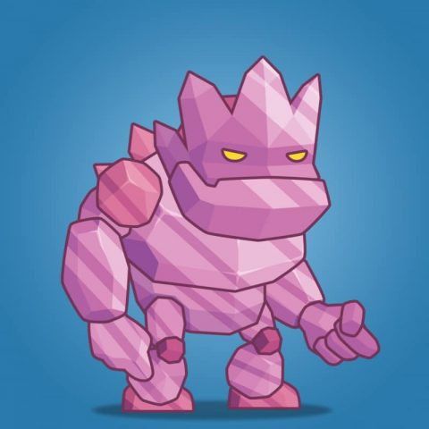 Tiny Crystal Monster – 2D Character Sprite