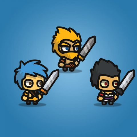 Warrior Tiny Style Character - 2D Character Sprite
