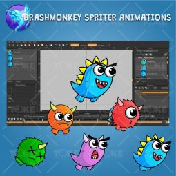 Enemy Monster Pack 2D Game Character Sprite - Brashmonkey Spriter Character Animations