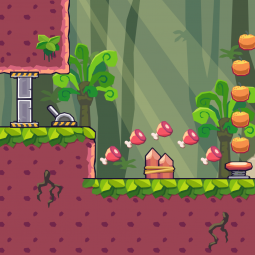 Seamless Forest Area - 2D Game Tileset