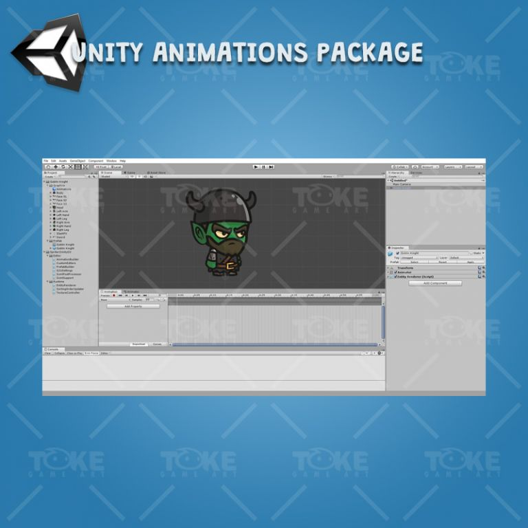 Goblin Knight - Unity Character Animation Package Ready with Spriter2UnityDX Tool