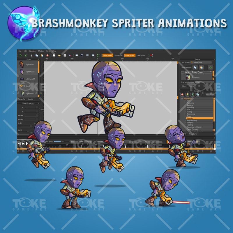 Alien Boss - Brashmonkey Spriter Animation