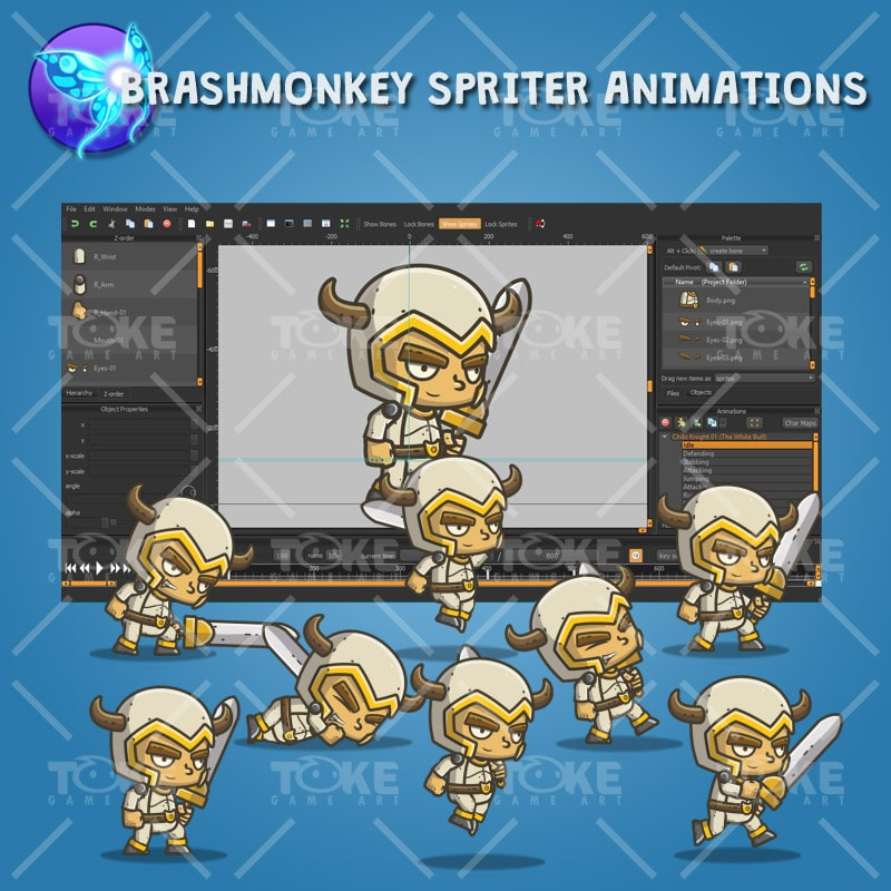 Chibi Knight The White Bull - Brashmonkey Spriter Animation