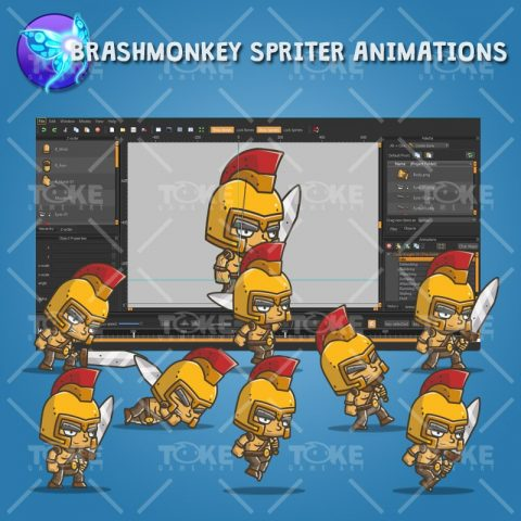 Chibi Knight Golden Helmet - Brashmonkey Spriter Animation
