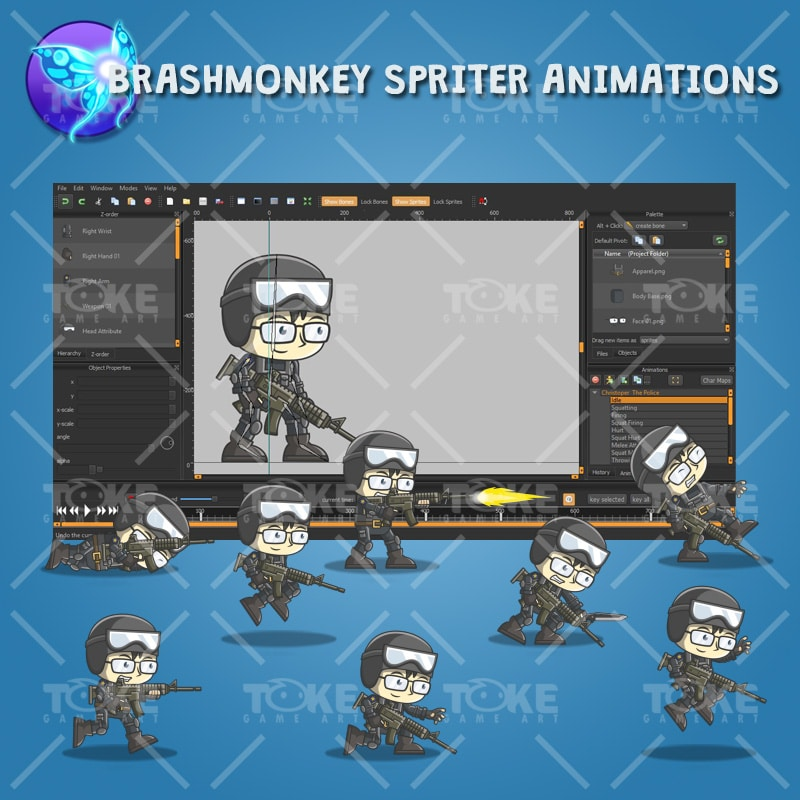 Christoper The Police - Brashmonkey Spriter Animation