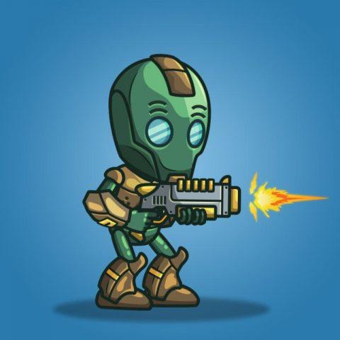 Evil Bot - 2D Character Sprite