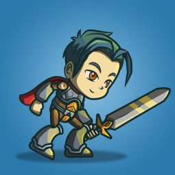 Genki and Dragon Blade - 2D Character Sprite