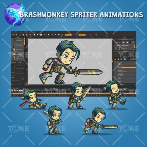 Genki and Dragon Blade - Brashmonkey Spriter Animation