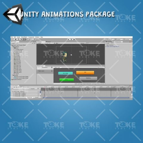 Genki and Dragon Blade - Unity Animation Ready
