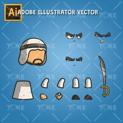 Micro Style Character Arabian Executioner - Adobe Illustrator Vector Art Based