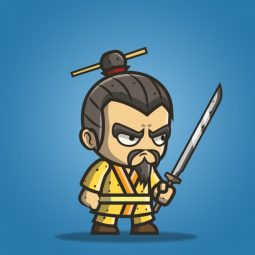 Micro Style Character Chinese King - 2D Character Sprite