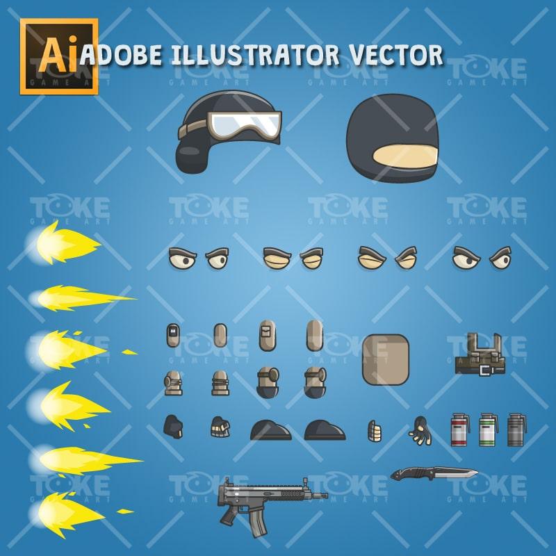 Mike - Adobe Illustrator Vector Art Based