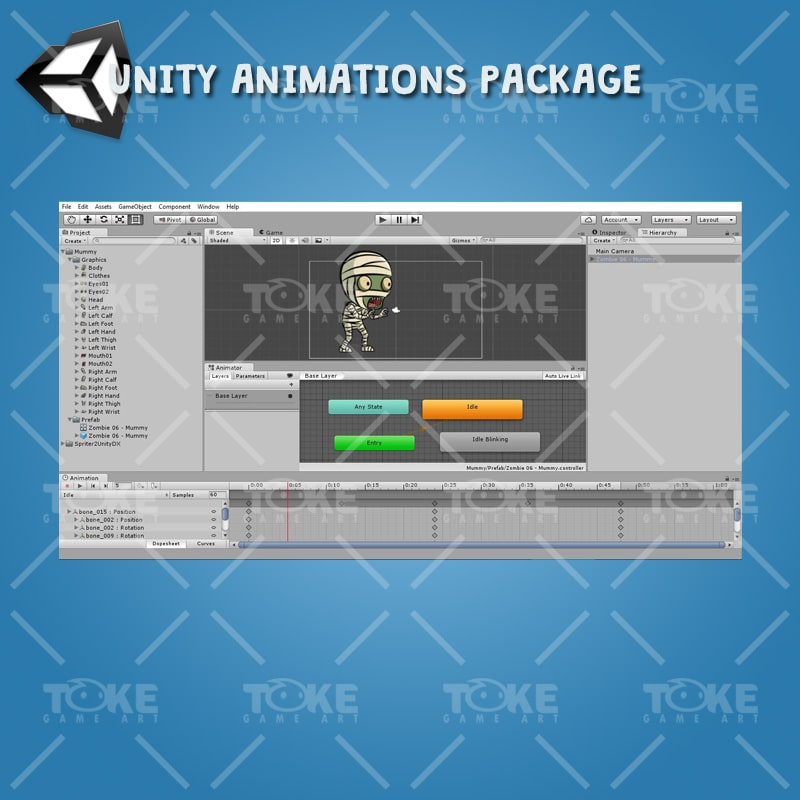Mummy - Unity Animation Ready