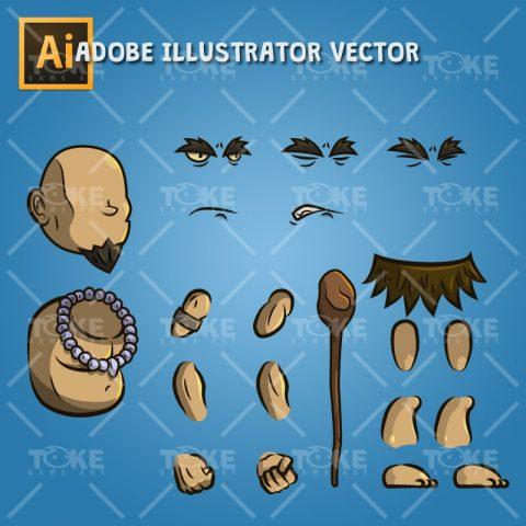 The Shaman - Adobe Illustrator Vector Art Based