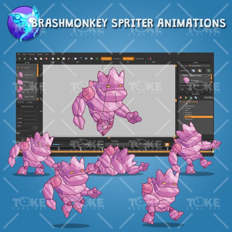 Tiny Crystal Monster – Brashmonkey Spriter Animation