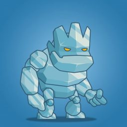 Tiny Ice Monster – 2D Character Sprite
