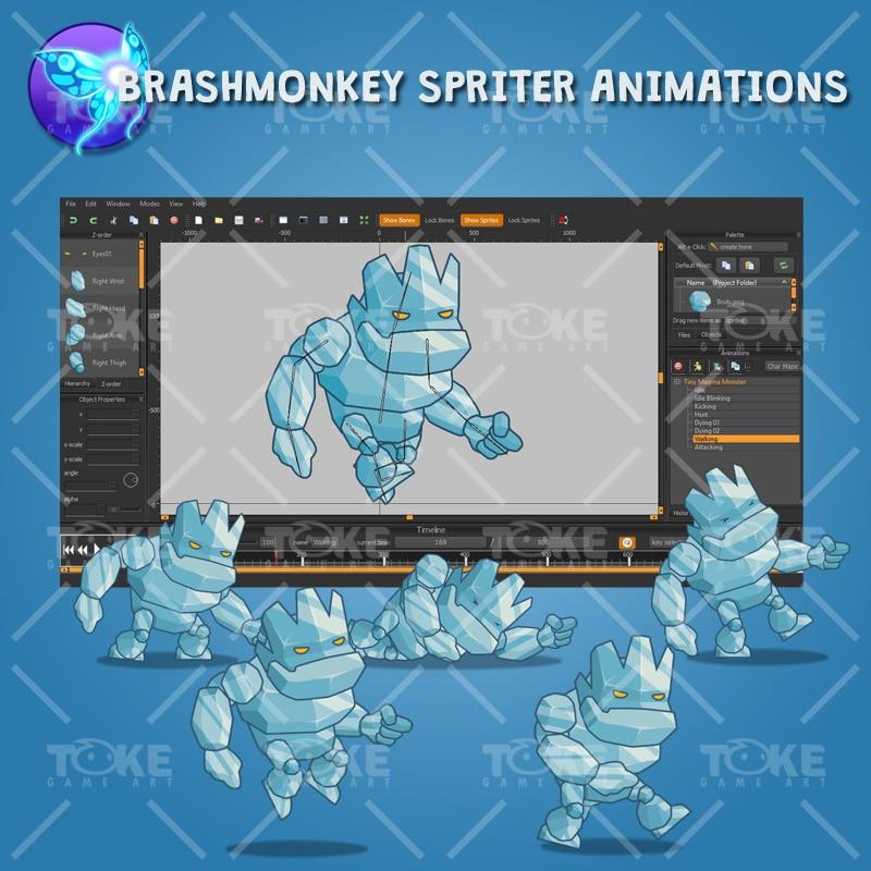 Tiny Ice Monster – Brashmonkey Spriter Animation