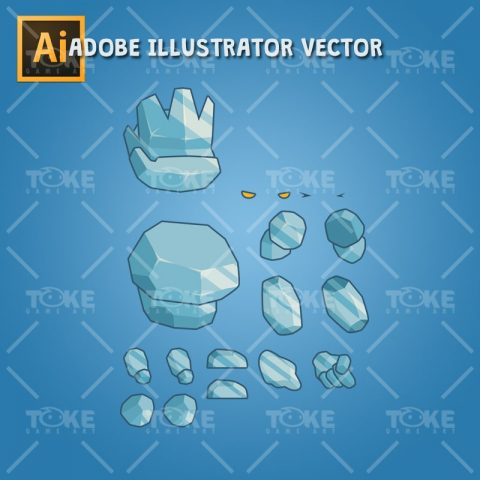 Tiny Ice Monster – Adobe Illustrator Vector Art Based