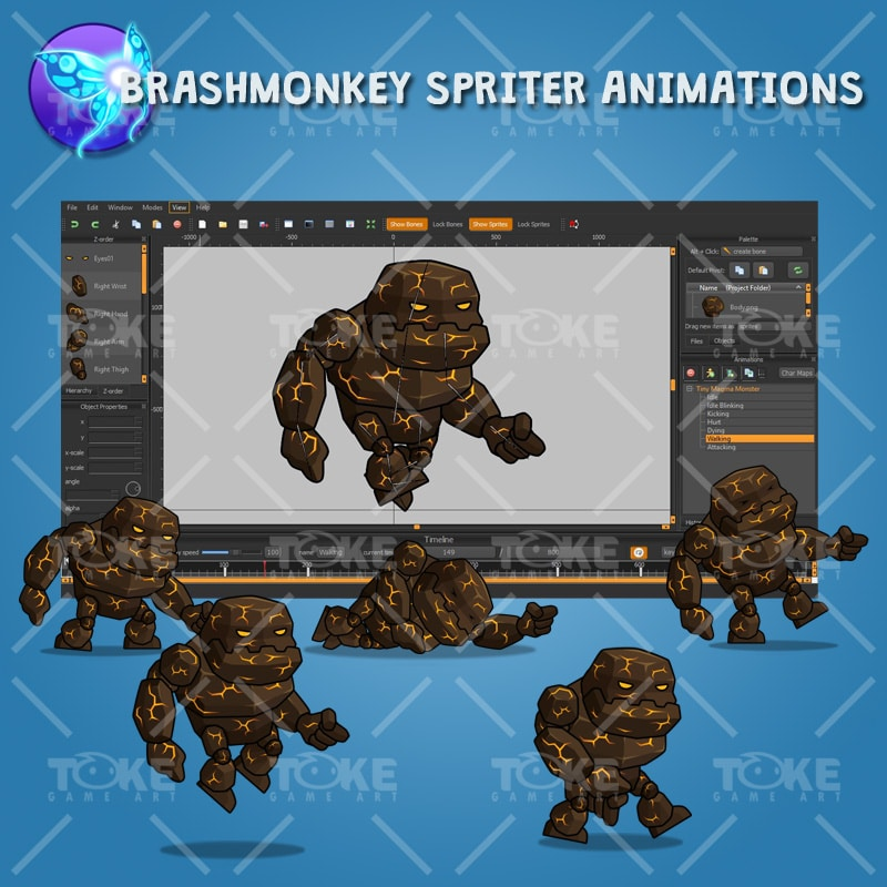 Tiny Lava Monster - Brashmonkey Spriter Animation