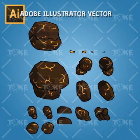 Tiny Lava Monster – Adobe Illustrator Vector Art Based