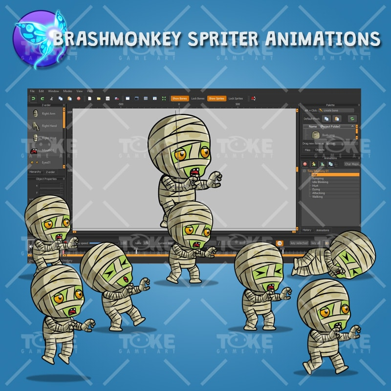Tiny Cute Mummy – Brashmonkey Spriter Animation