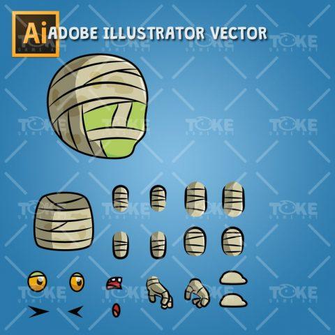 Tiny Cute Mummy – Adobe Illustrator Vector Art Based