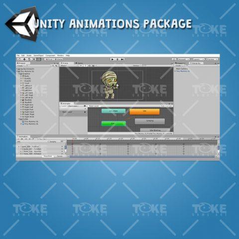 Tiny Cute Mummy – Unity Animation Ready