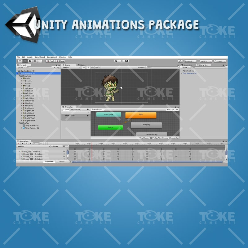 Tiny Mummy - Unity Animation ready