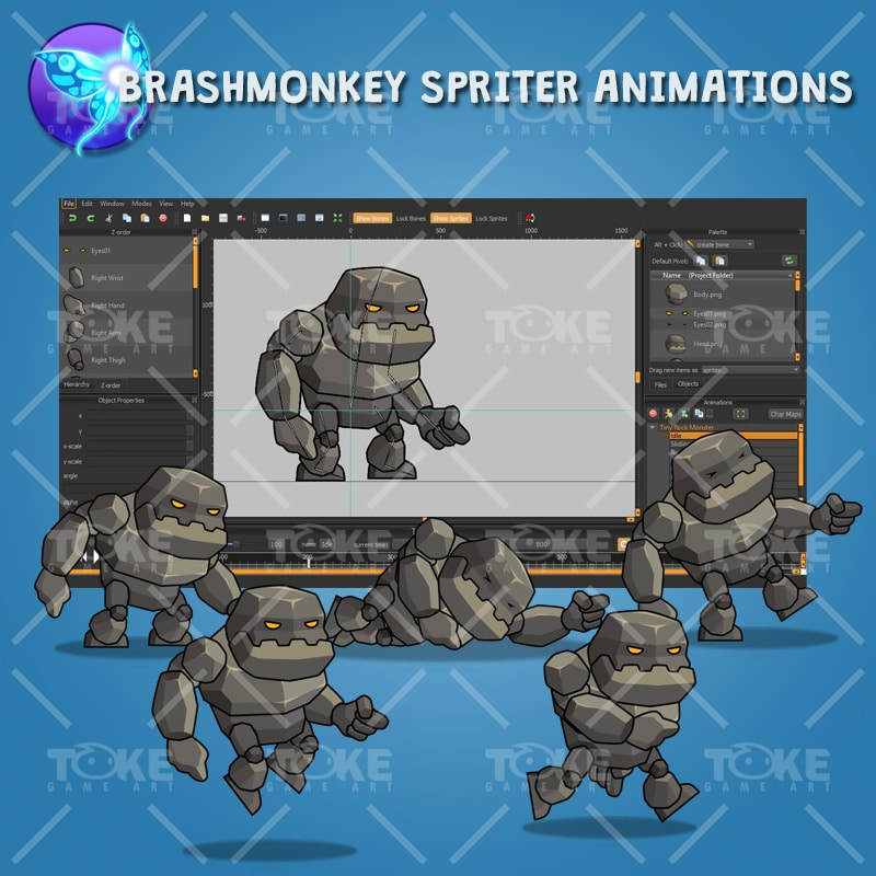 Tiny Rock Monster - Brashmonkey Spriter Animation