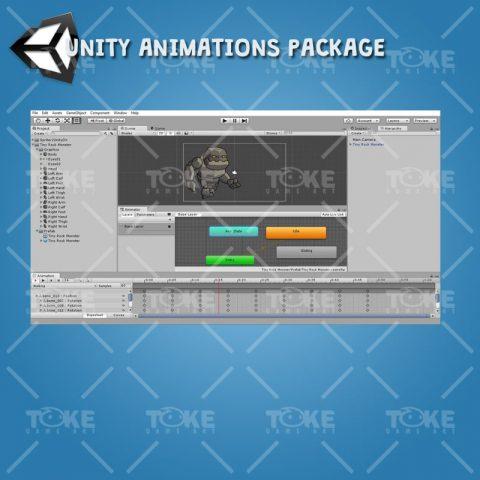 Tiny Rock Monster - Unity Animation Ready