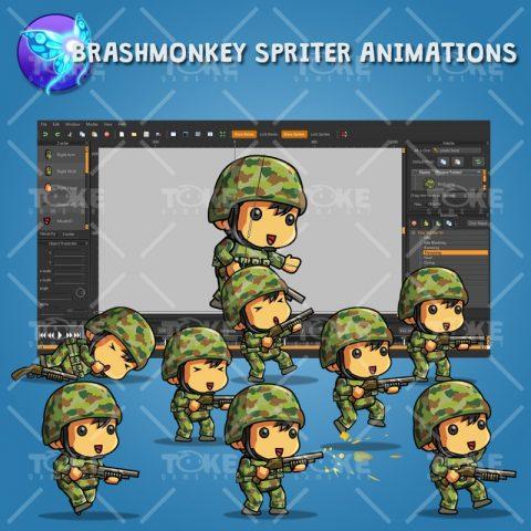 Tiny Australian Soldier – Brashmonkey Spriter Animation