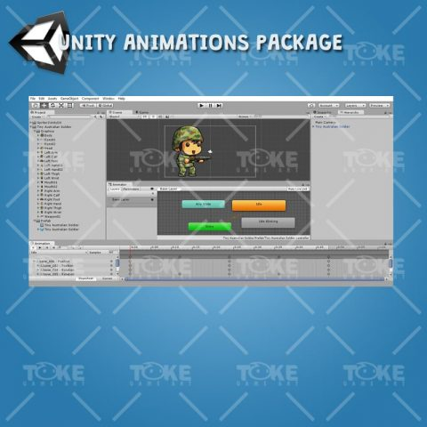 Tiny Australian Soldier - Unity Animatoin Ready