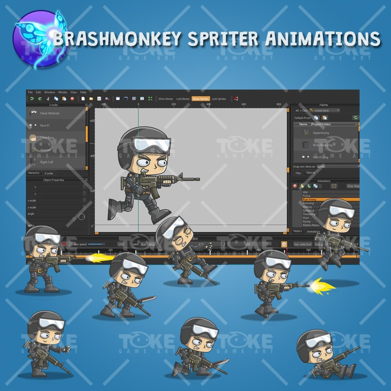 Tom The Police - Brashmonkey Spriter Animation