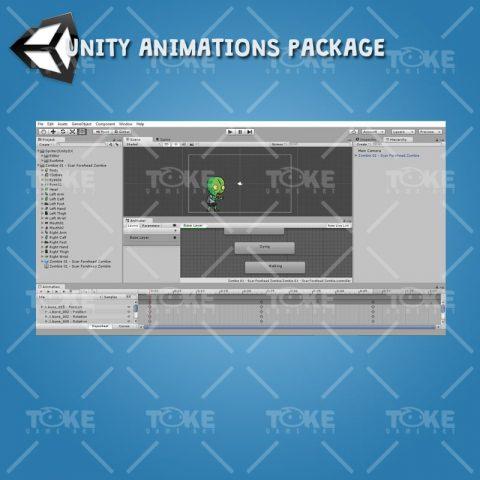 Scar Forehead Zombie - Unity Animation Ready