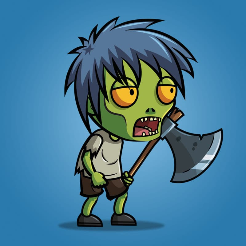 Anime Zombie Characters : Anime zombie d character sprite royalty free game art