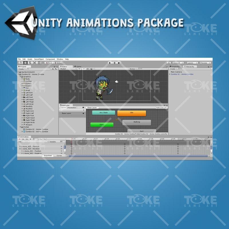 Anime Zombie - Unity Animation Ready