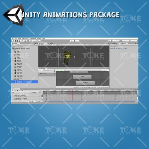 G.I. Joe Zombie - Unity Animation Ready