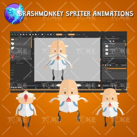 Jetpack Buddy – 2D Professor Game Character - Brashmonkey Spriter Animation