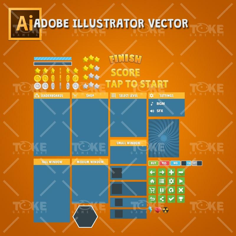 Jetpack Buddy – Adobe Illustrator Vector Art Based