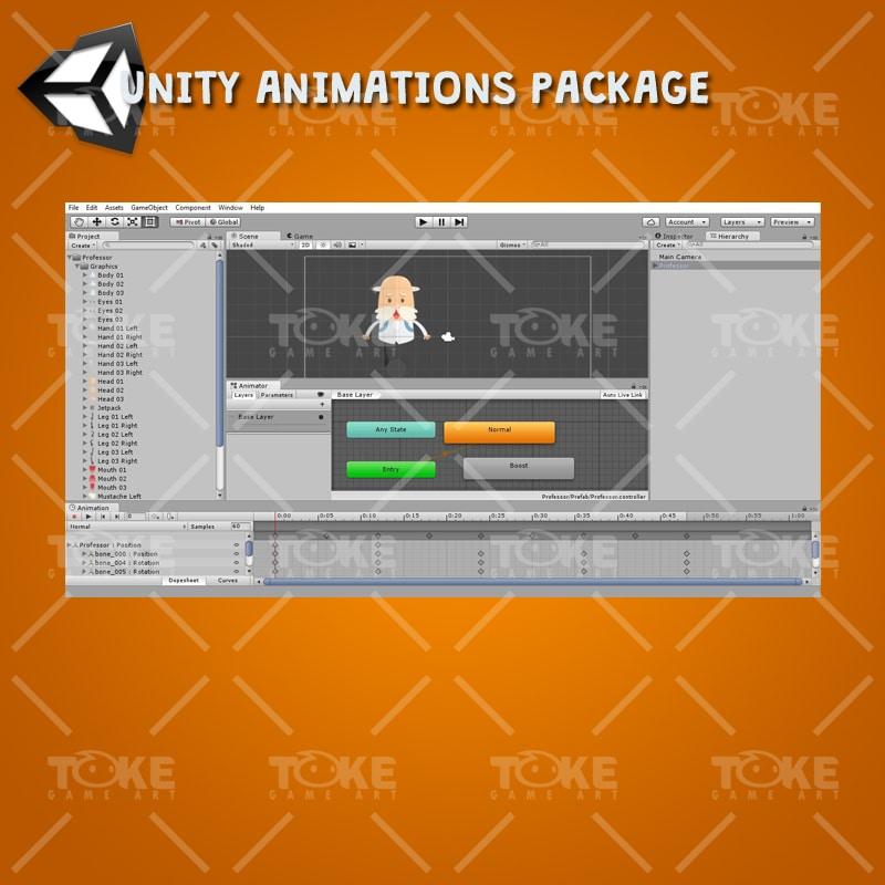 Jetpack Buddy – 2D Game Kit - Unity Animation Ready