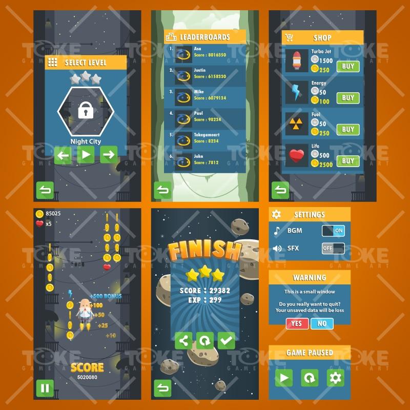 Jetpack Buddy - 2D Game Kit