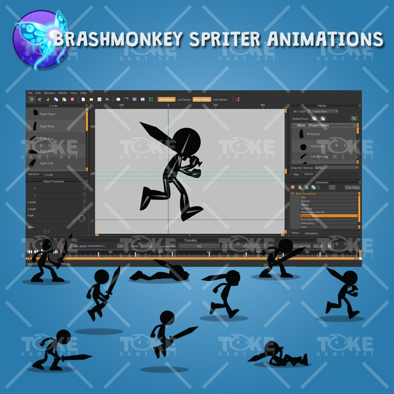 Stick Swordman - Brashmonkey Spriter Animation