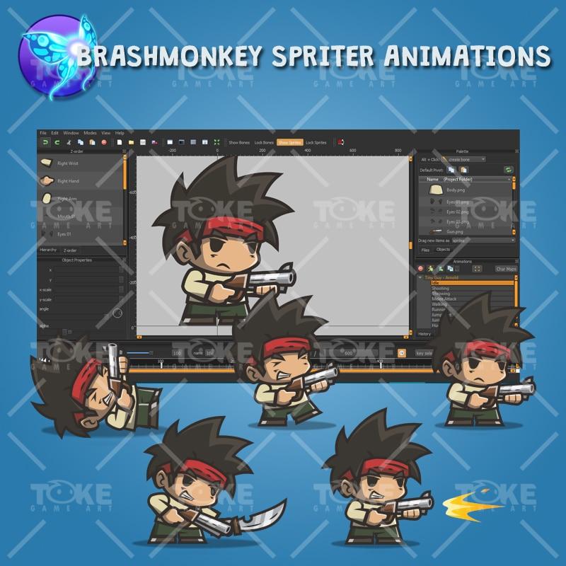 Tiny Guy Arnold - Brashmonkey Spriter Animation