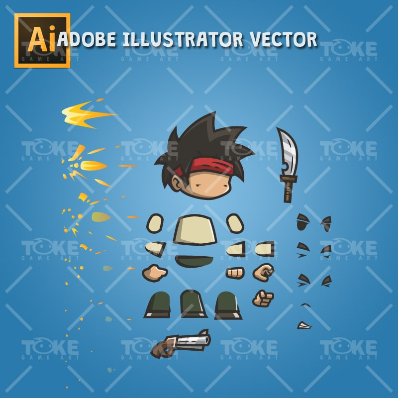 Tiny Guy Arnold - Adobe Illustrator Vector Art Based