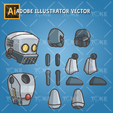 Big Hands Robot - Vector Art Based