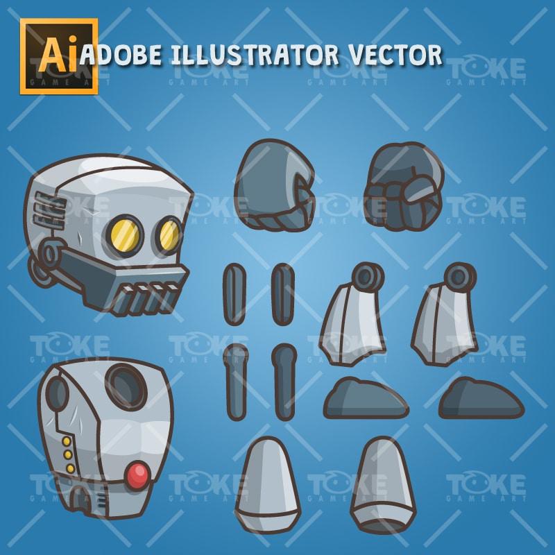 Big Hands Robot - Vector Art Based