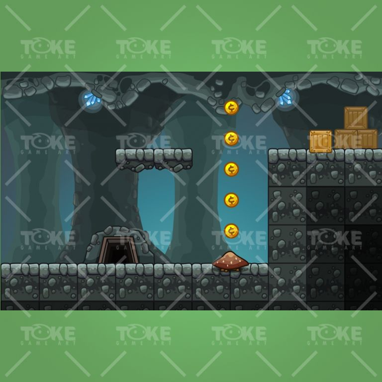 Cartoon Cave Platformer Tileset - Preview 3