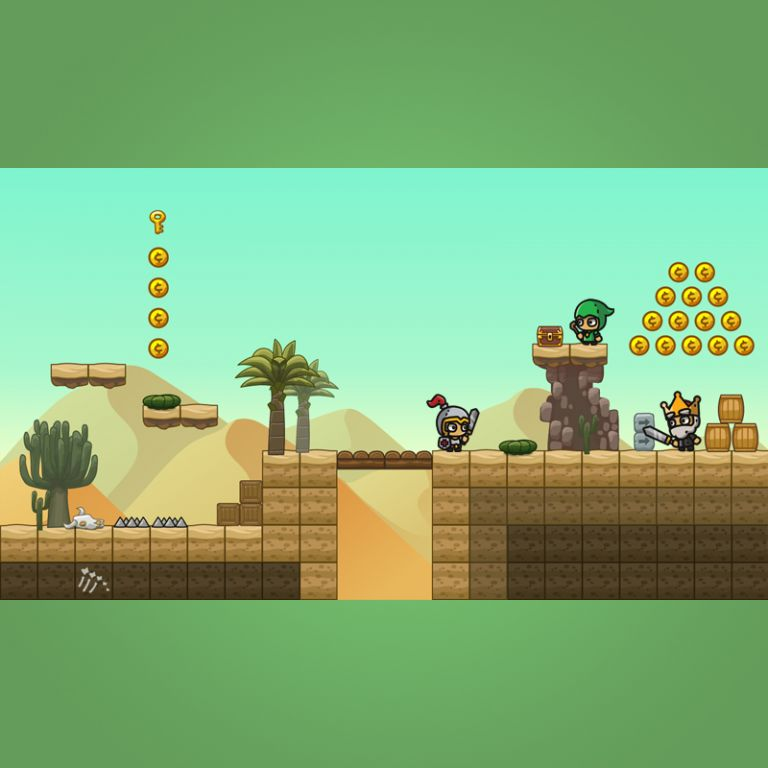 Cartoon Desesrt Tileset - 2D Game Platformer Tileset