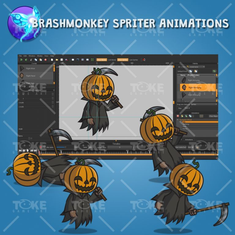 Pumpkin Ghost - Brashmonkey Spriter Animation