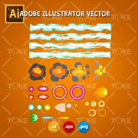 Scrolling Shooter Game Asset - 2D Game Kit